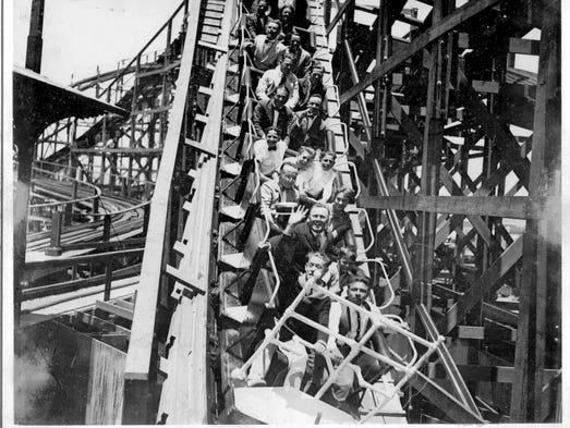 The big dipper roller coaster which dates to belmont park s