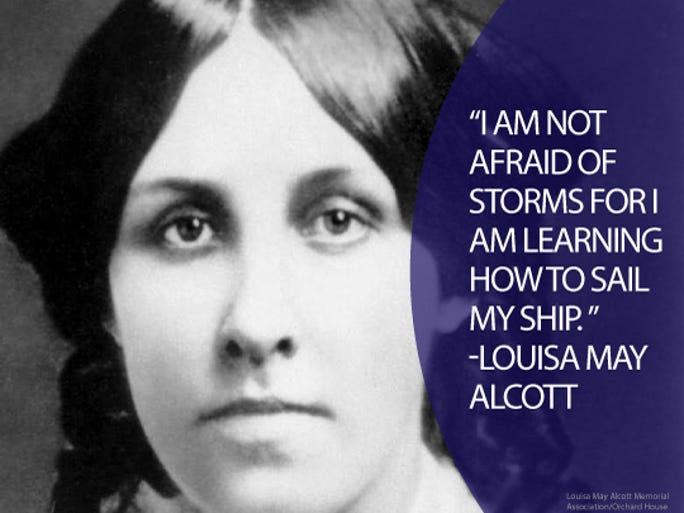 "Best known for her novel ""Little Women,"" Louisa May Alcott wrote under numerous aliases instead of her real name until she was ready to commit to writing."