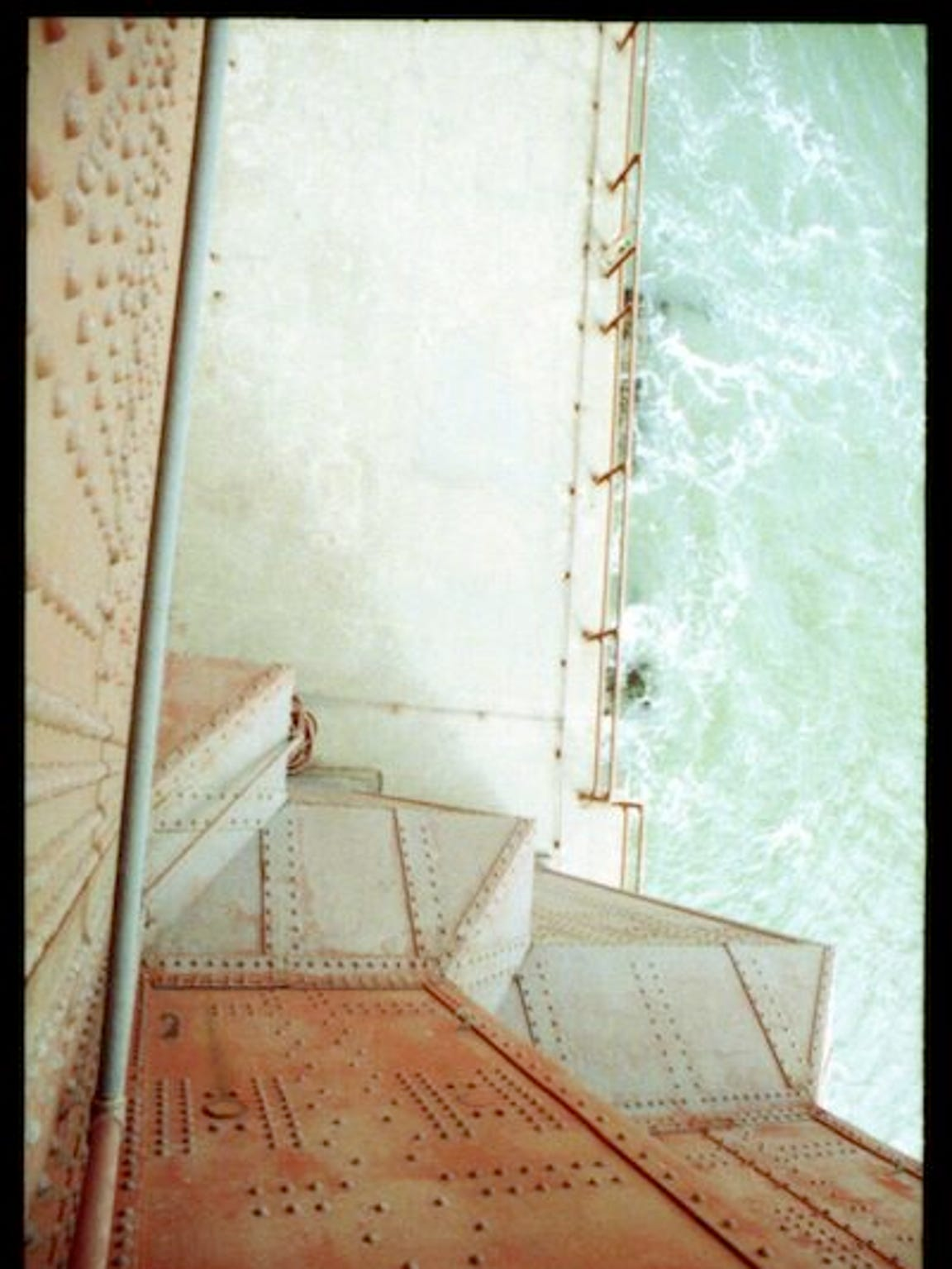 A view from the Golden Gate Bridge in 1982, one of