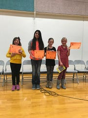 Escalante Valley 'Spelling Bee' winners.