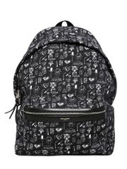 """The Saint Laurent men's Fall/Winter 2014 collection will feature Seth Bogart's """"Hunx Notebook"""" print on backpacks."""