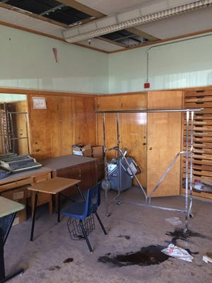 One of the 23 abandoned and decaying classrooms at Tucson High School, which await building renewal funds from the state.