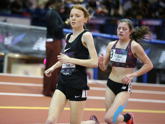 Isabel Hebner finished fourth in the 5,000 meters at
