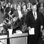 THEN: Ernest W. McFarland, recently elected Arizona governor, prepares to deliver the State of the State speech.