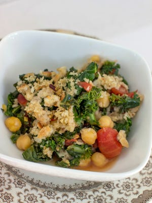 Beans and greens gratin can be made with affordable dried beans soaked over night, which ensures a tender skin, a more evenly cooked bean and a shorter cooking time. Beans are full of nutrition and offer a healthy alternative to animal protein.