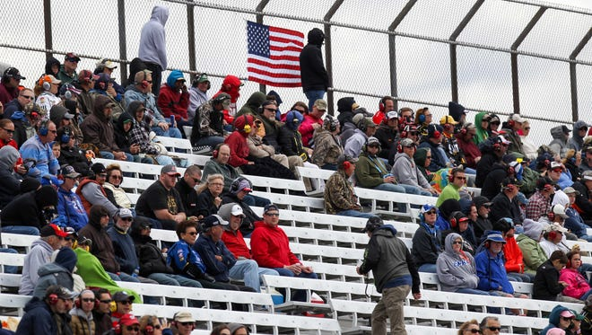 Empty seats during the AAA 400 Drive For Autism at Dover International Speedway.
