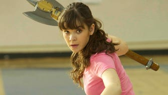Assassin-turned-high schooler Hailee Steinfeld arms herself in 'Barely Lethal.'