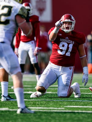 Jacob Robinson provides experience to IU's defensive front.