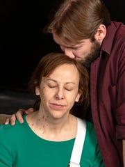 Krista Schafer Ewbank as Sarah and David Galido as