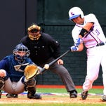 Louisiana Tech's Jacob Derouen's two-run double off the left field wall in the eighth inning gave the Bulldogs a 12-11 victory.