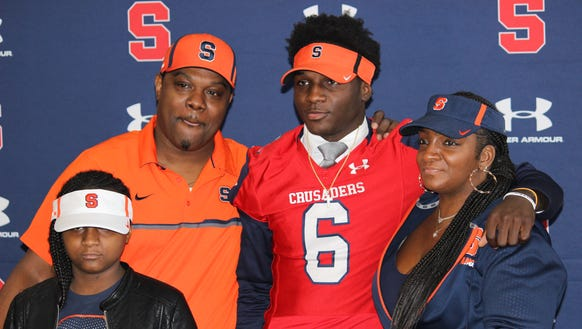 Stepinac's Trill Williams, pictured with his family