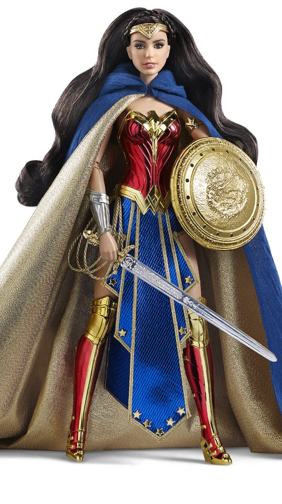 The Amazon Princess Wonder Woman Barbie ($80) is based
