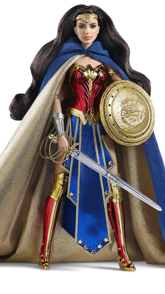 The Amazon Princess Wonder Woman Barbie ($80) is based