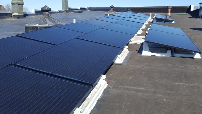 Solar panels on the roof of 2220 Division Street in Stevens Point