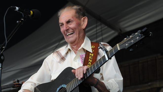 D,L. Menard, seen here at the 2012 edition of Jazz Fest in New Orleans, was 85.