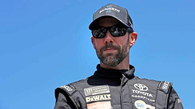 Matt Kenseth is introduced prior to the NASCAR Cup Series 300 auto race at New Hampshire Motor Speedway in Loudon, N.H. on Sept. 24, 2017.