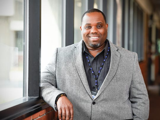 Sebastian Witherspoon, director of equity services for St. Cloud school district, talks about his job Thursday, May 25, at Apollo High School.