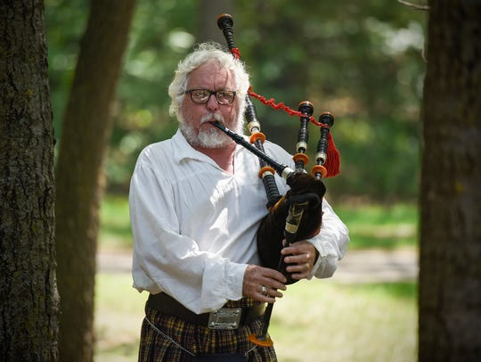 "Scott Bartell plays ""Amazing Grace"" on the bagpipes"