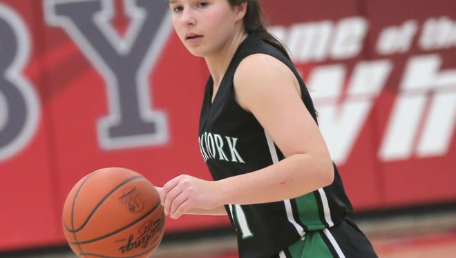 Clear Fork's Regan Marshall is the only returning starter for the Lady Colts in 2018-19 and will be looked at to lead a turnaround in the Valley.