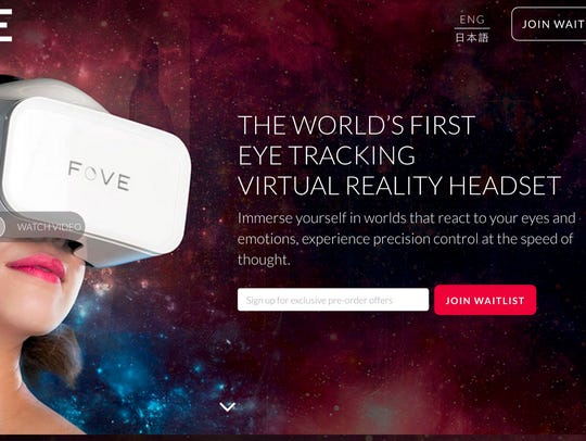 Fove is a company that incorporates an eye-tracking