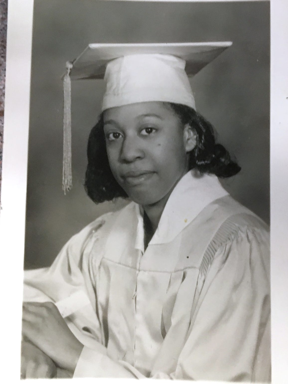 Clara Ester's high school graduation photo, spring 1965.