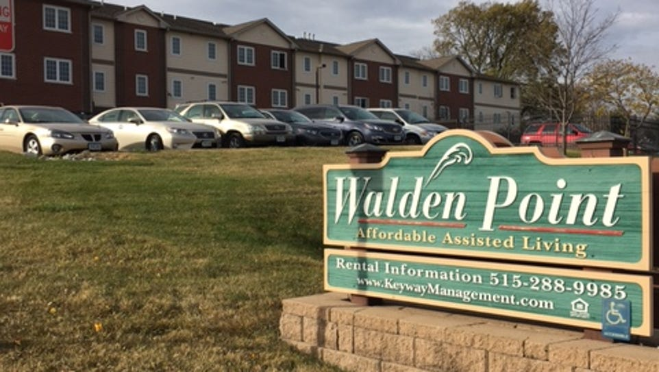 Walden Point Assisted Living facility sits across the