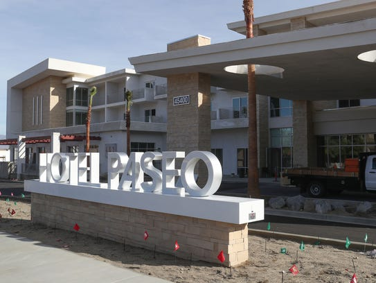 The new Hotel Paseo in Palm Desert is nearing completion,