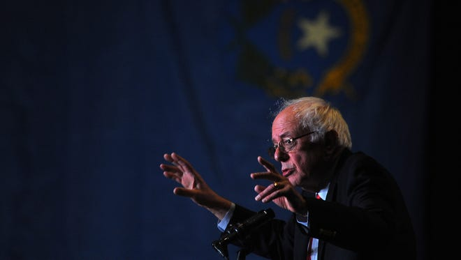U.S. Sen. Bernie Sanders speaks at the Nugget Casino Resort in Sparks on Feb. 19, 2016. Sanders is set to stop in Reno to campaign for Hillary Clinton and Catherine Cortez Masto on Wednesday.