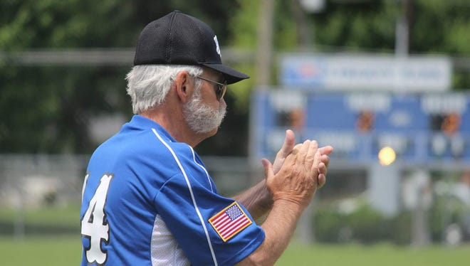 Morris McCreery coaches the Muncie Post 19 Chiefs baseball team.