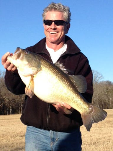 Duane Daugherty caught this largemouth bass, which