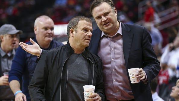 Houston Rockets owner Tilman Fertitta (left) and general