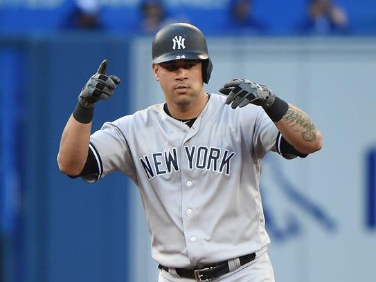 New York Yankees designated hitter Gary Sanchez (24)