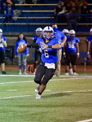 Junction City quarterback Andrew Khoury picked apart the Washburn Rural defense Friday night in a 70-25 Blue Jay rout. Khoury threw for 526 yards and six touchdowns.