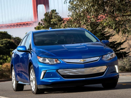 The 2017 Chevrolet Volt, which ranks No. 30 in the