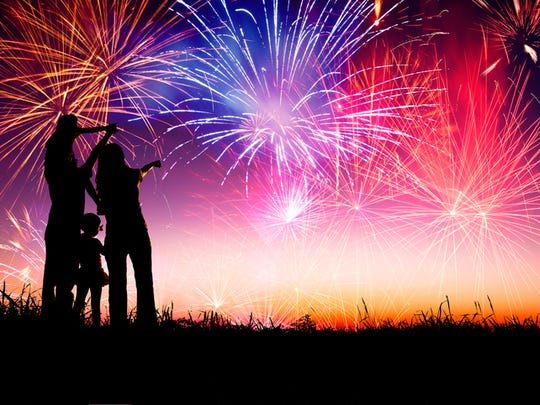 Find an event to see fireworks on the Fourth.
