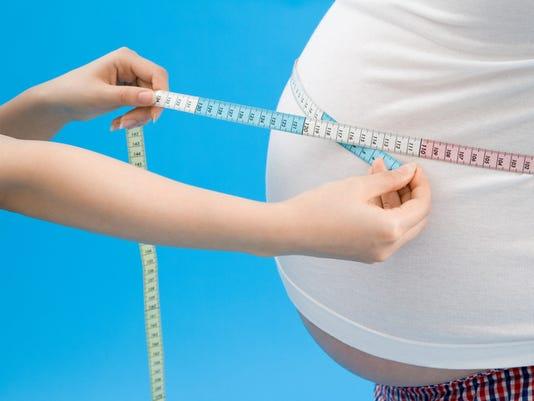 Obese man's waist