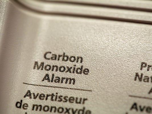 Close-up of carbon monoxide alarm