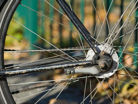 Bicycle tire spokes and chain