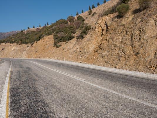 Roadway through the mountains