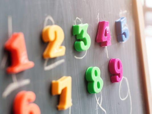 Learning numbers on a blackboard