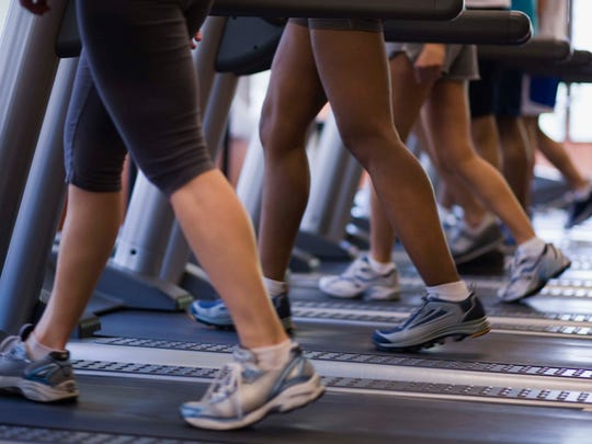 Proper gym etiquette includes cleaning off equipment such as treadmills when finished.