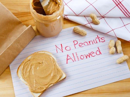 Warning - No Peanuts Allowed