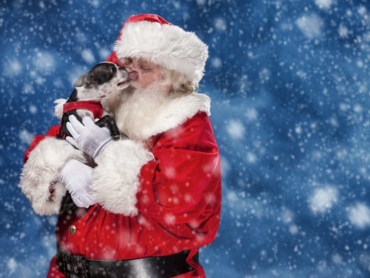 Get your pet's photo taken with Santa at Arrowhead