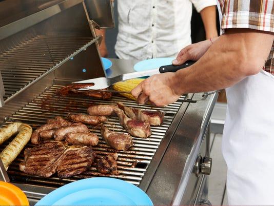 Urban backyard barbecue party