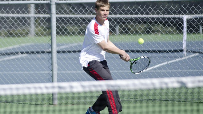 Matthew Schmitz has played No. 1 singles for Brandon Valley since his freshman year. The Lynx are off to a hot start this season. Brandon Valley Challenger file photo.