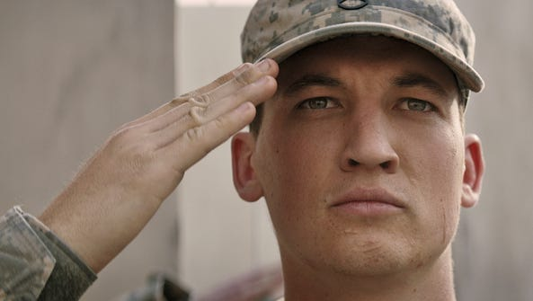 Miles Teller is a soldier who served in Iraq but has