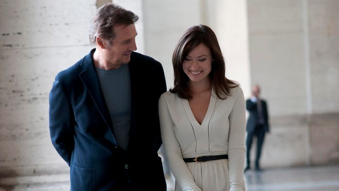 "Liam Neeson and Olivia Wilde star in a scene from ""Third Person."""