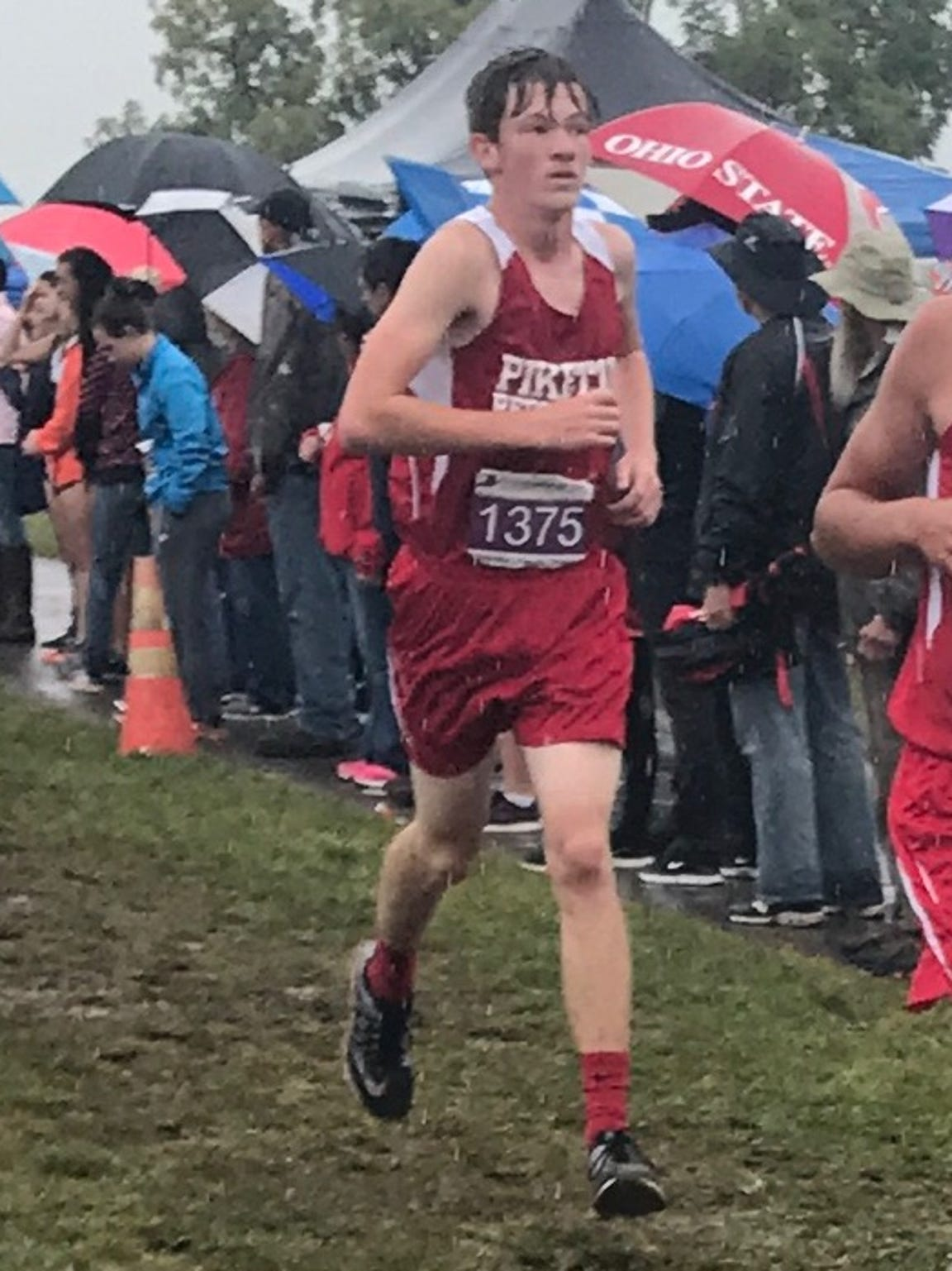 Piketon freshman Walker Kinnison competes in the Circleville