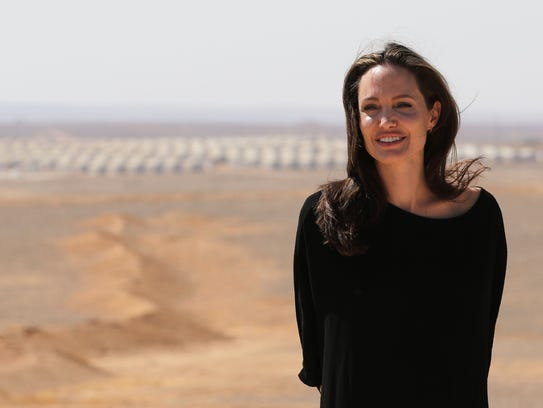 Angelina Jolie, UN special envoy for refugees, during