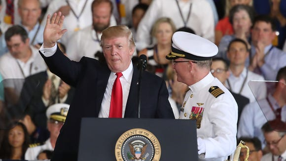 NORFOLK, VA - JULY 22:  U.S. President Donald Trump